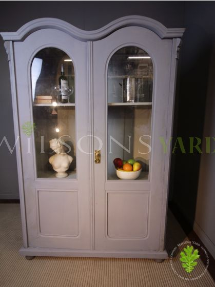 Restored Glazed Hungarian Artisan Bookcase