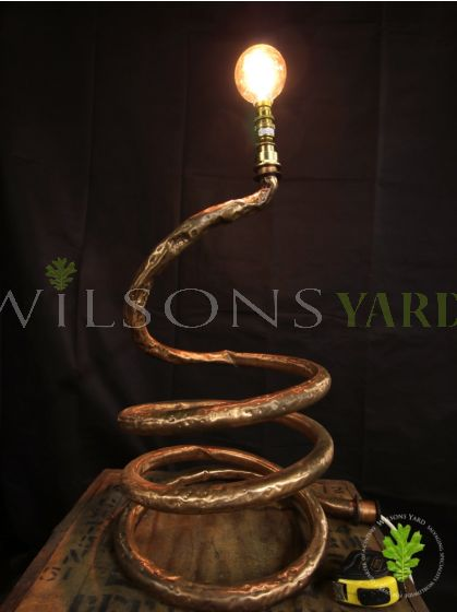 Funky Looking Copper Pipe Light