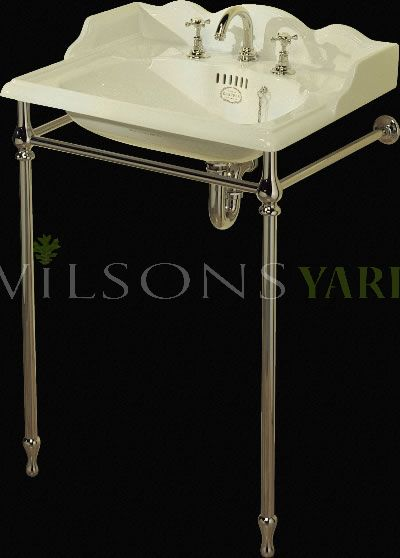22 Inch Washbasin Stand Set With 3 Hole Mixer Antique White China