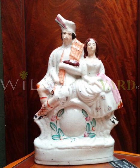 1 Pair of Delph Figurines