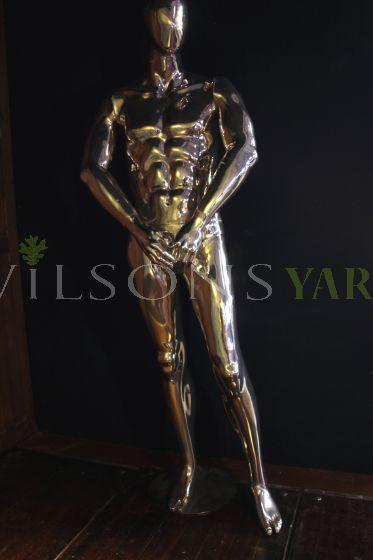 Silvered Man Mannequin