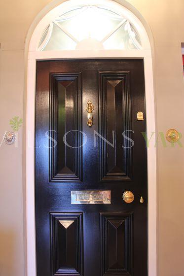 Georgian 4 panel door, frame &  fanlight