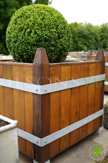 Beautiful Set of 4 Boxed French Oak Planters