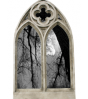 Large Quaterfoil Double Arch Gothic Window