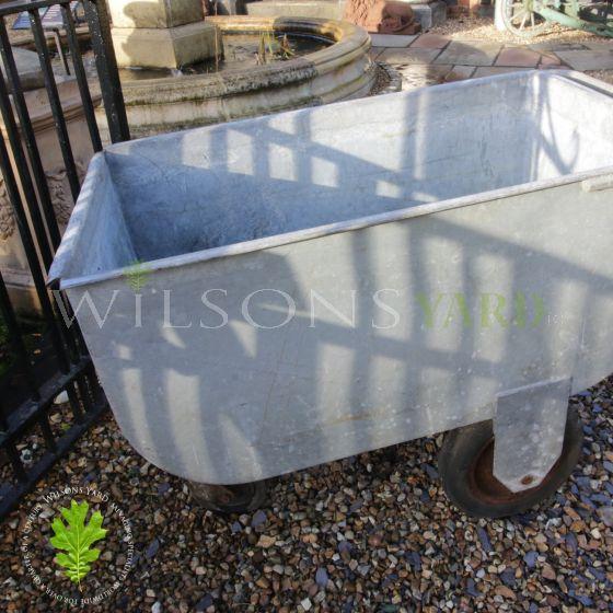 Garden trolley on wheels