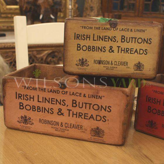 Vintage wooden display boxes