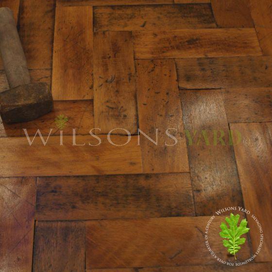 Vintage woodblock flooring