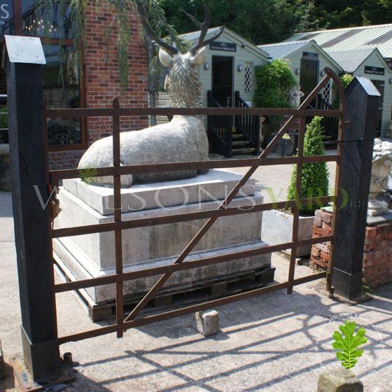 Antique blacksmith field gate