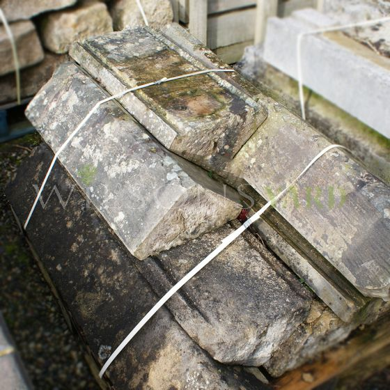 Reclaimed stone wall coping