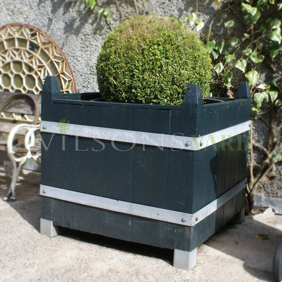 Large Oak garden box planter