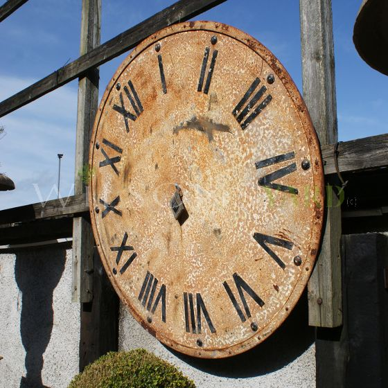 Metal vintage garden clock
