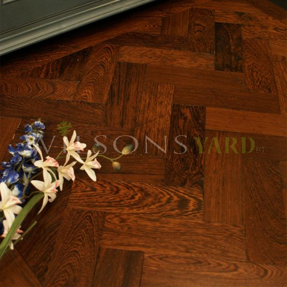 Reclaimed hardwood woodblock flooring