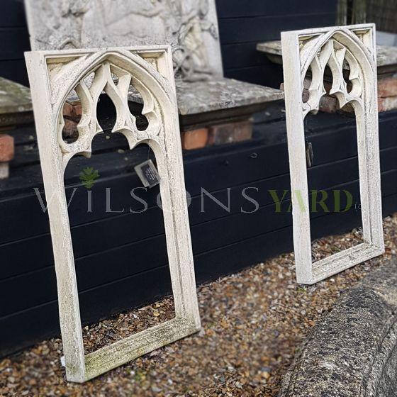 Gothic style garden stone window