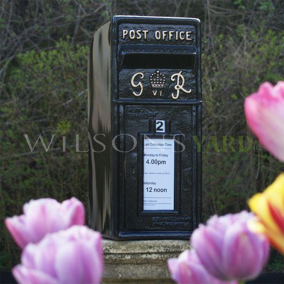 Vintage cast iron style post box