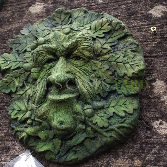 green man Oak king wall plaque