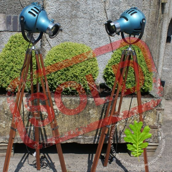 Pair of Theatre Lights (circa 1950) salvaged from  the Lyric Theatre, Belfast