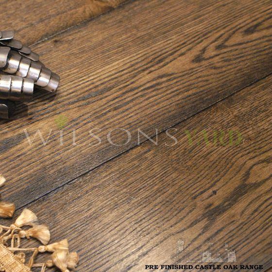 Period style engineered oak plank wood flooring
