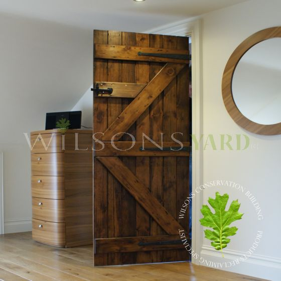 Guinness Board ledged and braced doors