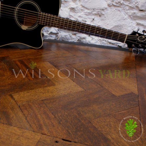 reclaimed parquet wood block