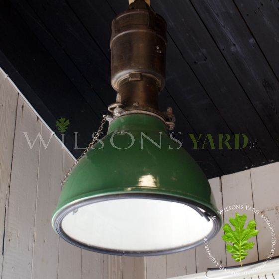 Vintage green industrial light