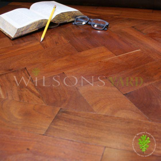 Reclaimed teak wood block flooring