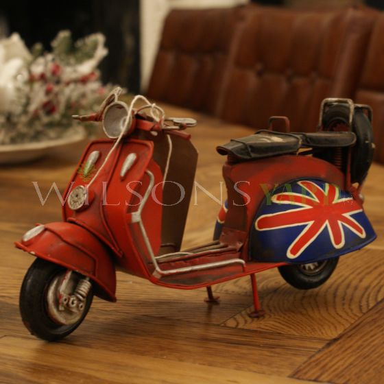 Retro Vespa scooter