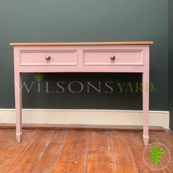 Distressed Finish on a Beautiful Painted Console Table