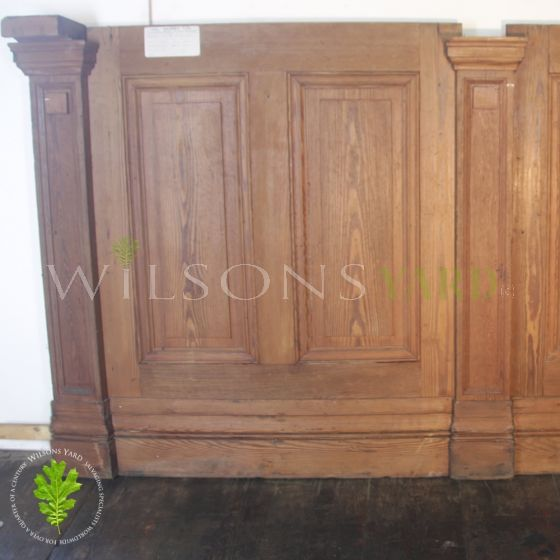 Pitch Pine gallery paneling