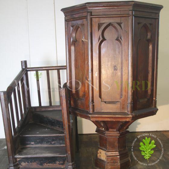 Original Gothic pulpit