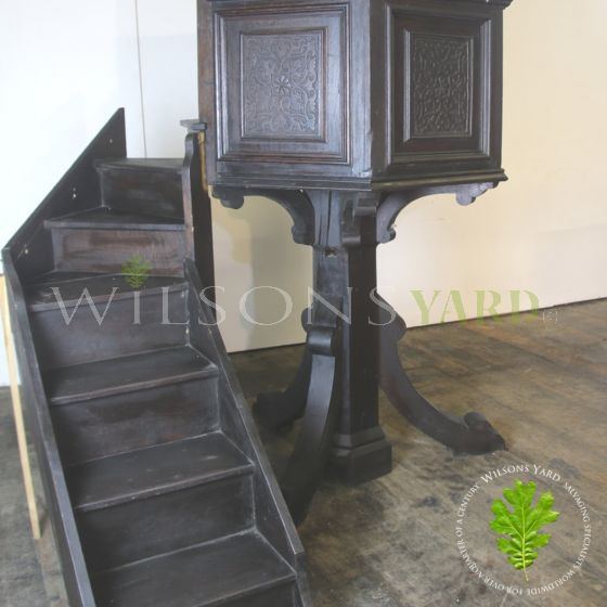 Gothic church pulpit with steps