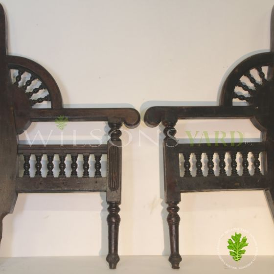 Original wooden seat ends