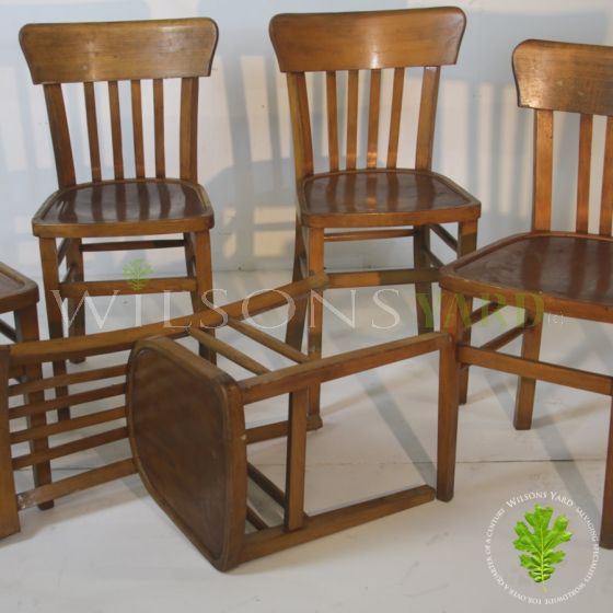 Vintage Wooden Chapel Chairs