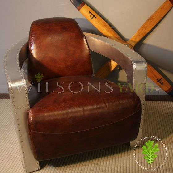 Designer leather chair