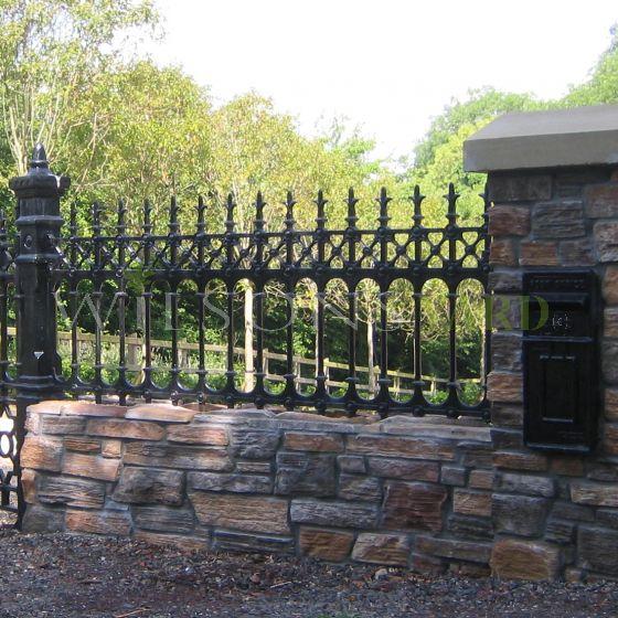 Stewart half height cast iron railing