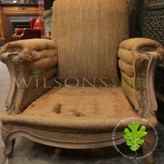 antique fabric chair