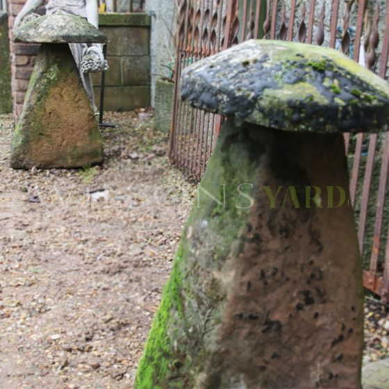 Antique garden staddle stones