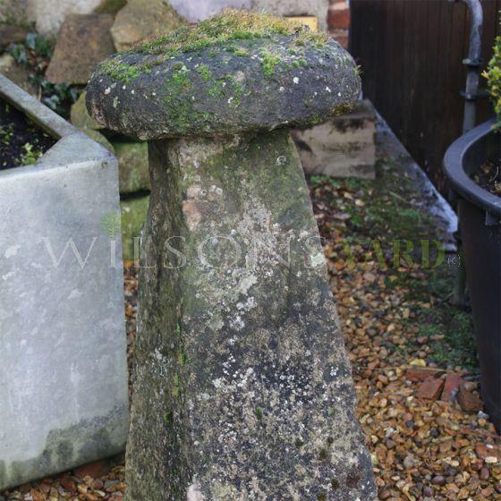 Antique garden staddle stone