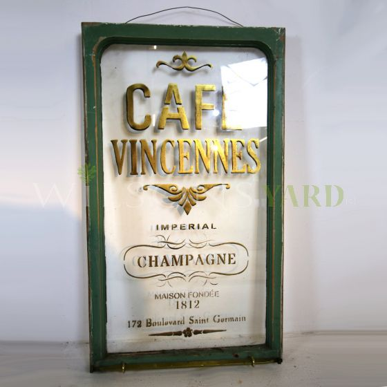 Vintage cafe wall sign