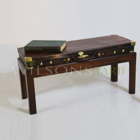 Edwardian gun case coffee table