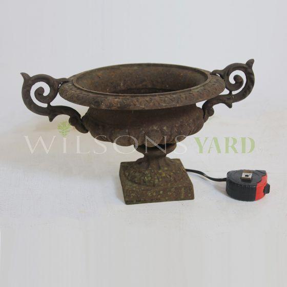 Vintage cast iron garden urn