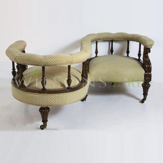Antique double seat