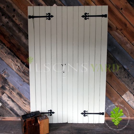 Original pair of wooden plank doors