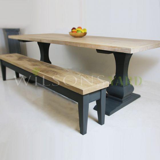 Handmade plank top tables