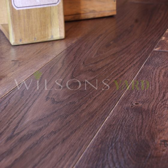 Flat Cider Mill Engineered Oak Walnut Stained