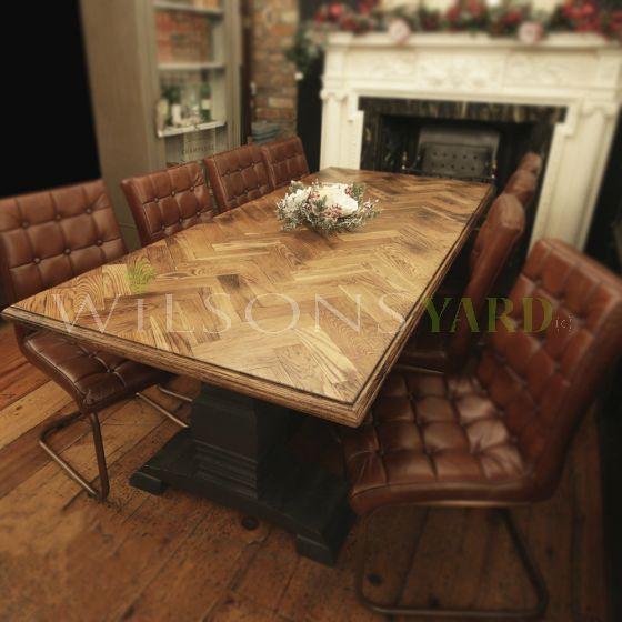 Handmade bespoke kitchen table Ireland