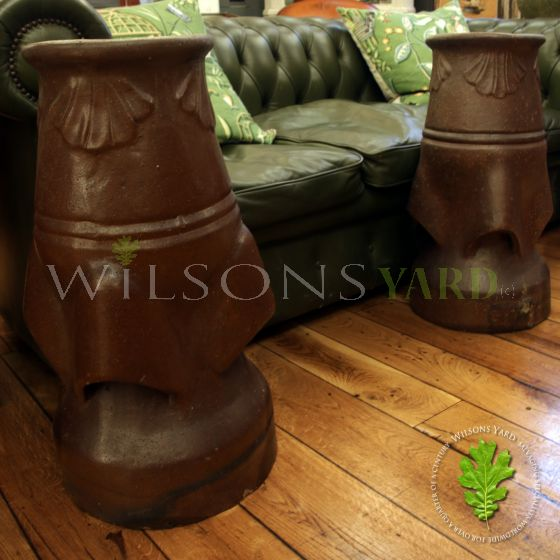 large antique chimney pots