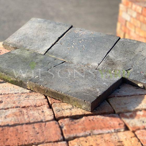 Reclaimed dark quarry tiles