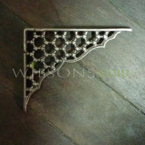 Pair of Cast Iron Honeycomb Brackets - Small