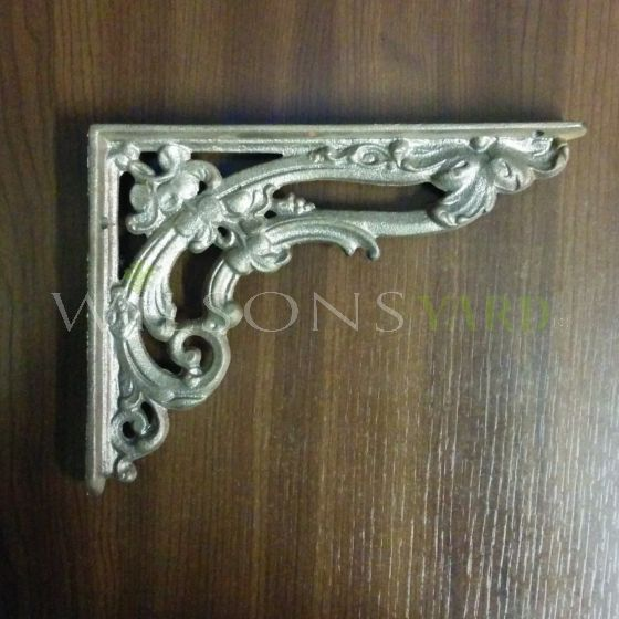 Pair of Small Cast Iron Scroll Victorian Brackets