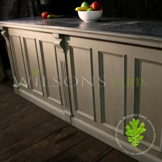 Restored Edwardian Zinc Top Counter